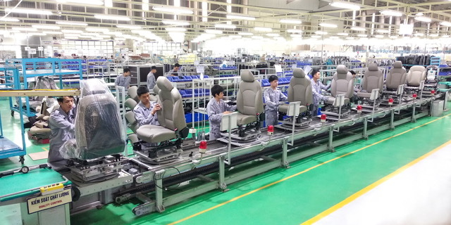 Thaco tăng xuất khẩu linh kiện ghế ô tô