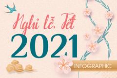 19 ngày nghỉ lễ, Tết năm 2021