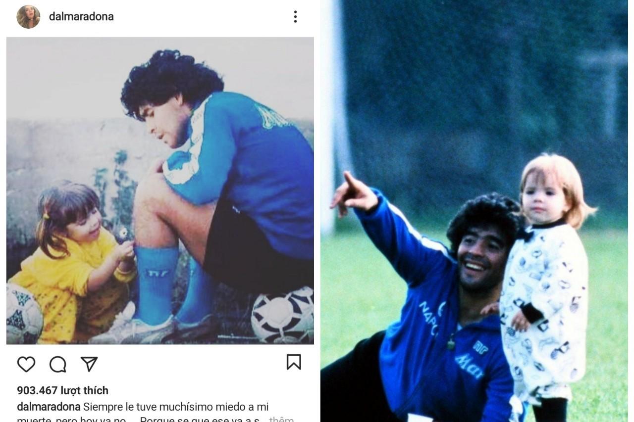 Con gái Diego Maradona viết tâm thư xúc động gửi bố