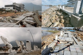 Ảnh hưởng bão số 13,  đường 172 tỷ ở TT-Huế  hư hỏng nặng