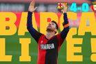 Messi lập siêu phẩm nhớ Maradona, Barca thắng to