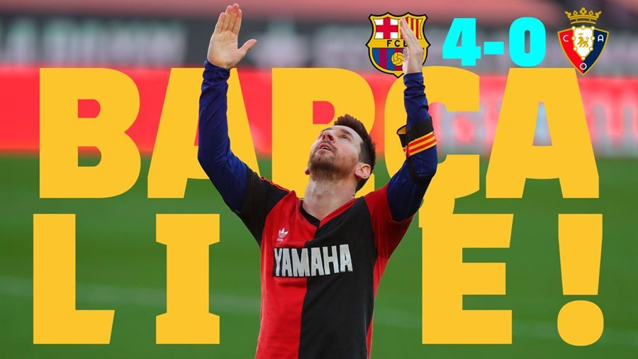 Barca,Osasuna,Messi,Maradona