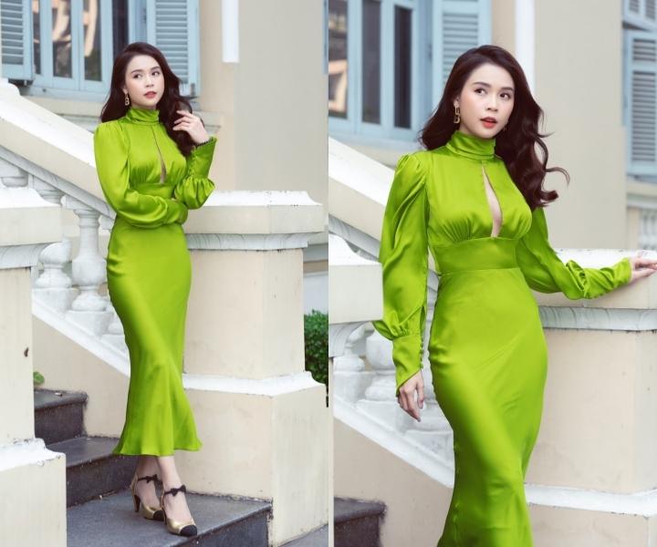 Khánh Vân, Huyền My khéo tôn chân dài với đầm sequins