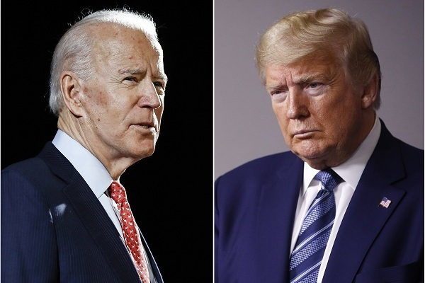 Động thái bất ngờ của ông Trump khi ông Biden gặp chấn thương