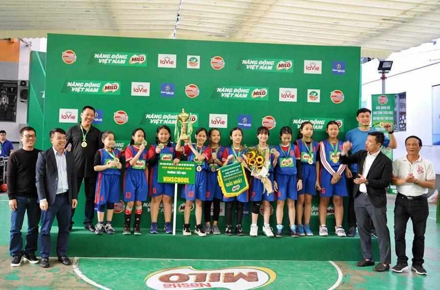 Kết thúc giải bóng rổ học sinh Tiểu học Hà Nội lần thứ XIV