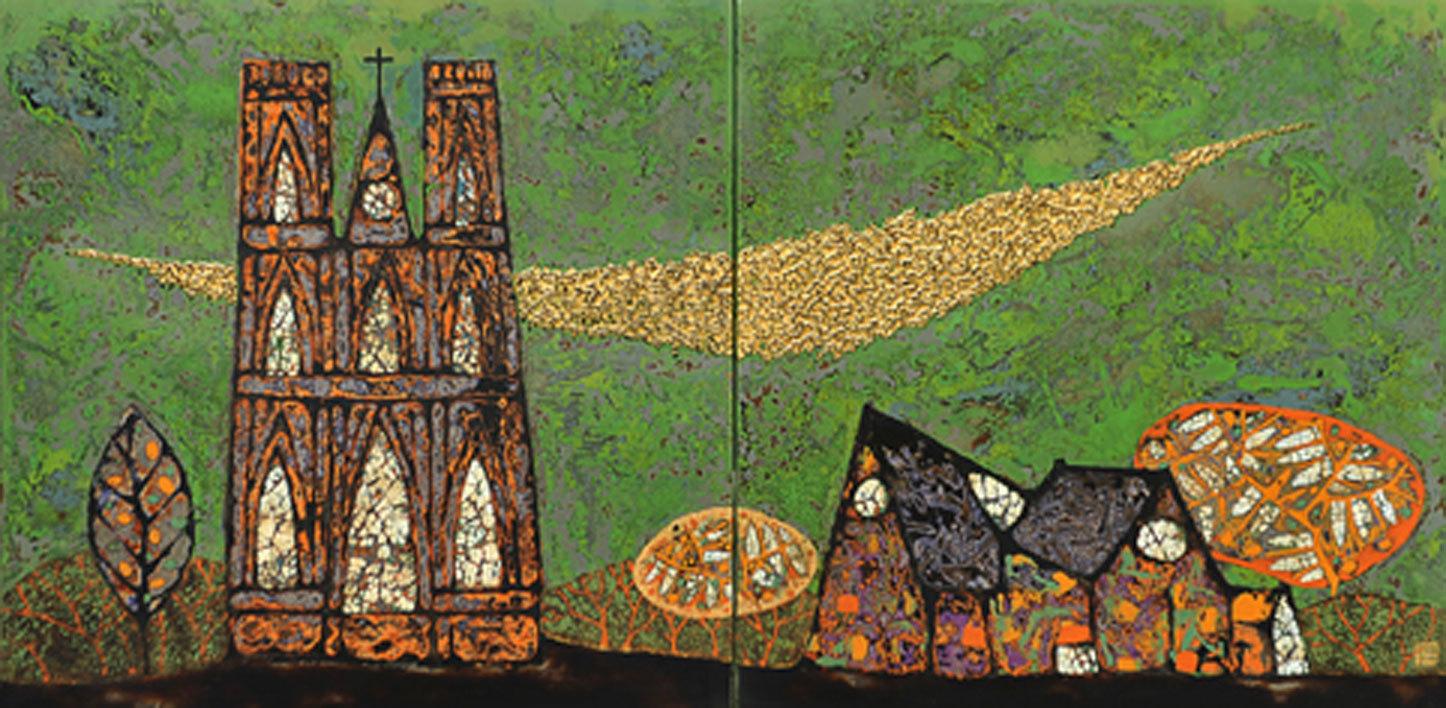 Ký ức thầm lặng thể hiện bằng tranh của hoạ sĩ Trịnh Tuân