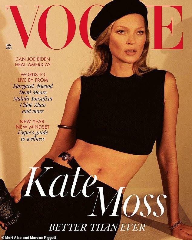 Nhan sắc Kate Moss không thay đổi sau 27 năm
