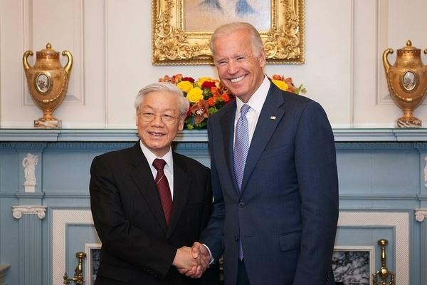 Lãnh đạo Việt Nam gửi điện mừng Tổng thống đắc cử Mỹ Joe Biden