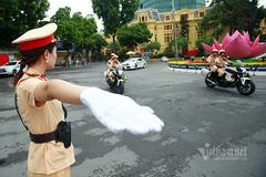 CSGT Hà Nội phân luồng một số tuyến đường phục vụ đại hội