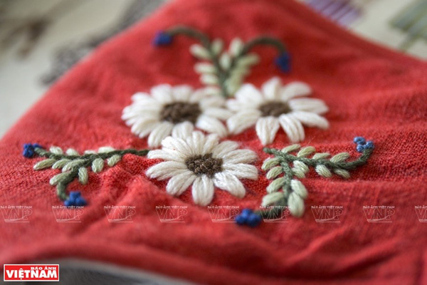 Hand-embroidered masks during COVID-19