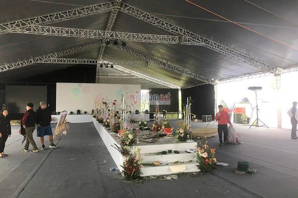 Hé lộ hình ảnh chuẩn bị lễ cưới nhà Công Phượng ở Nghệ An