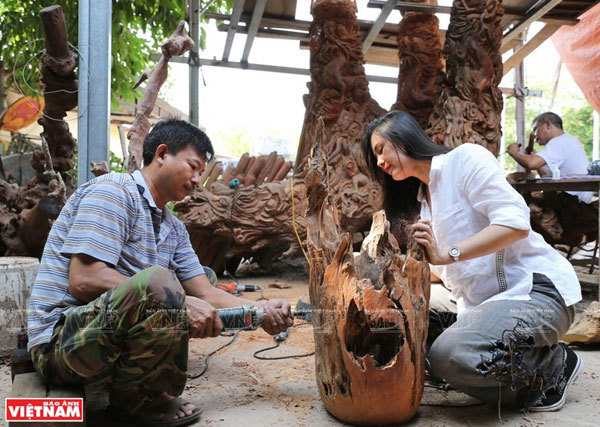 Driftwood becomes art