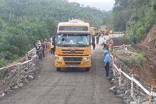 Quốc lộ bị lũ cuốn đứt đôi ở Đắk Lắk lưu thông trở lại