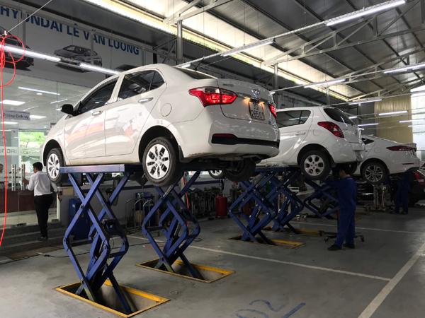 Bảo dưỡng xe giá ưu đãi ở Hyundai Lê Văn Lương