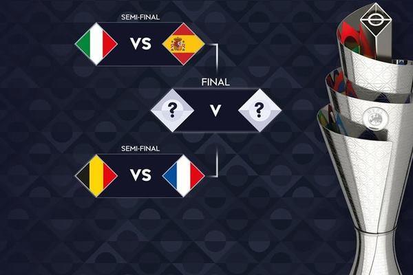Italy đại chiến Tây Ban Nha, Pháp đấu Bỉ ở bán kết Nations League
