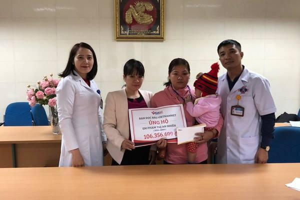 Bé Phạm Thị An Nhiên được giúp đỡ hơn 106 triệu đồng