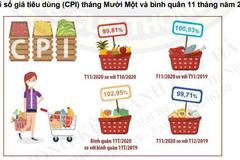Cục Thống kê Hà Nội: CPI bình quân 11 tháng năm 2020 của thành phố tăng 2,95%