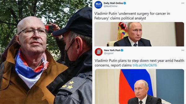 Nga bắt nhân vật tung tin đồn Putin bị bệnh