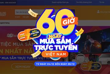 Hơn 3,7 triệu đơn hàng trong '60 giờ mua sắm trực tuyến Việt Nam'