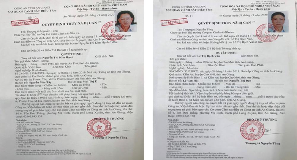Diễn biến mới vụ truy nã Mười Tường, đối tượng chuyển lậu 51kg vàng