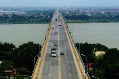 Hoàn thành sửa mặt cầu Thăng Long trước Tết Dương Lịch