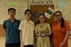 Máy đo bụi mịn của nhóm học sinh cấp III ở Hà Nội