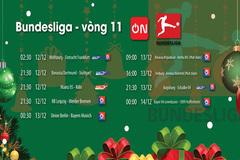 Lịch thi đấu bóng đá Bundesliga vòng 11