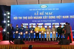 Hội thi thợ giỏi ngành xây dựng Việt Nam 2020 vinh danh công nhân VINADIC M&E