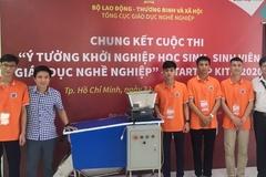 Máy phân loại rác thải của nhóm sinh viên trường CĐ Công nghệ Hà Tĩnh
