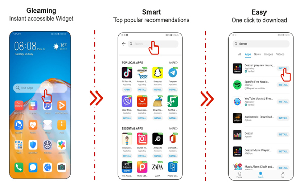 Cài đặt Zalo, Facebook, Youtube: chỉ 'một chạm', trên mọi thiết bị Huawei