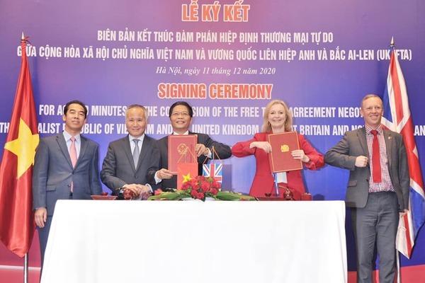 Kết thúc đàm phán hiệp định thương mại tự do Việt Nam - Anh