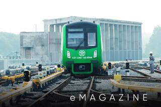 Tàu đường sắt Cát Linh - Hà Đông vận hành thử để cấp chứng chỉ an toàn