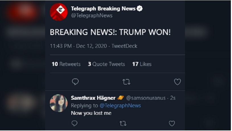 Báo Anh gây hoang mang khi bất ngờ đưa tin ông Trump thắng cử