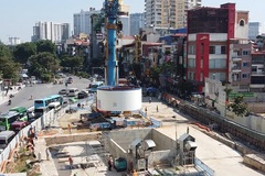 Close-up of first TBM for Hanoi's subway drilling