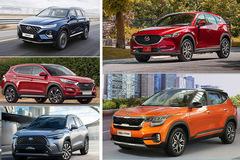 """Xe đa dụng tháng 11: KIA Seltos bứt phá, Honda CR-V """"bật"""" khỏi top."""