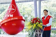 Hàng ngàn người lao động EVN tham gia hiến máu nhân đạo
