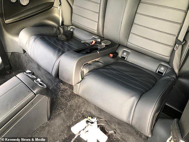 Sau một đêm, xe sang Mercedes bị trộm lột sạch phụ kiện
