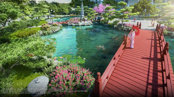 """Vườn Nhật sẽ tạo nên """"chất"""" sống riêng cho cư dân The Zenpark - an nhiên, tĩnh lặng giữa thành phố biển hồ sôi động"""