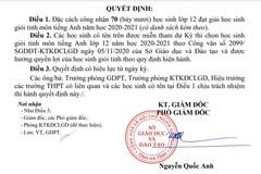 Đạt 6.5 IELTS trở lên, 70 học sinh ở Hà Tĩnh được đặc cách là HSG cấp tỉnh