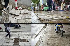 Authorities aim to fix Hanoisidewalksbefore Tet
