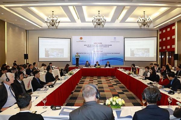 Việt Nam thúc đẩy, bảo vệ quyền con người trong dịch Covid-19