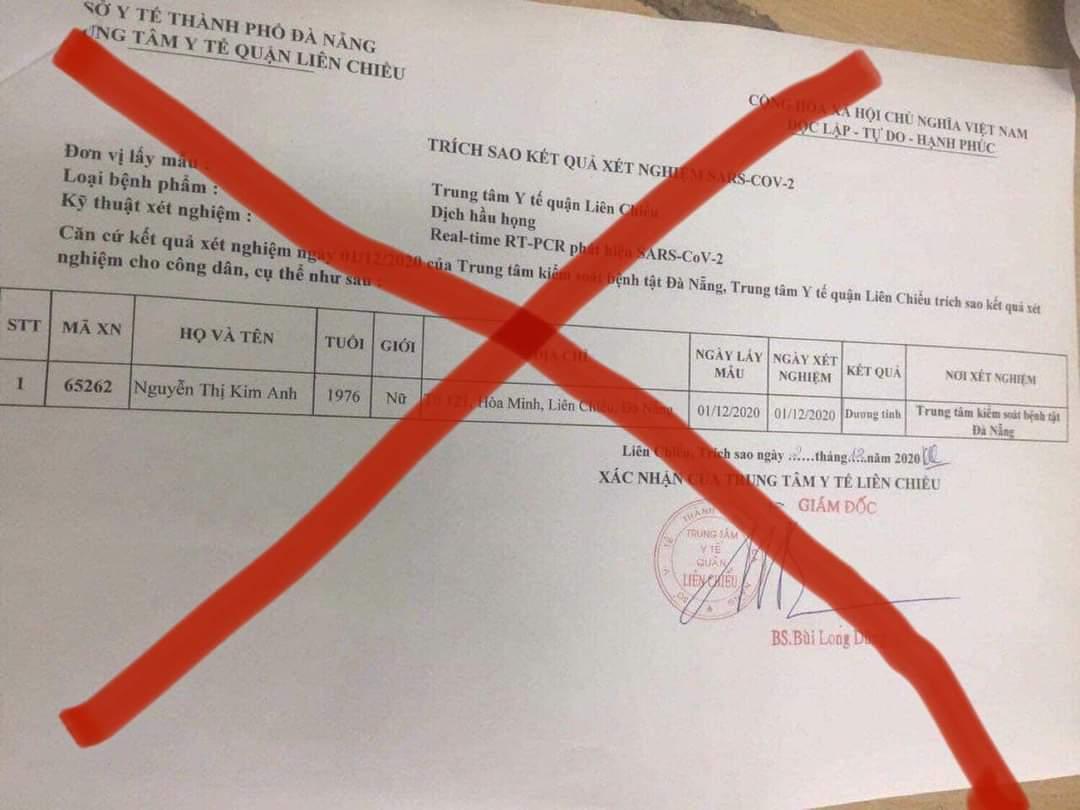 Vụ sửa kết quả Covid-19 đồng nghiệp thành dương tính: Xử phạt 2 người liên quan