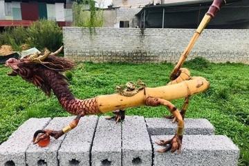Chiêm ngưỡng chiếc điếu cày tre 'Kim Long Vườn Ngọc' được trả giá gần 1.000 USD