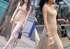 'Gặp nạn' vì mặc kiểu váy tàng hình xuống phố
