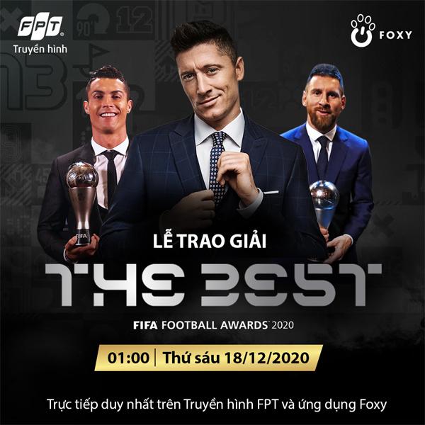 Truyền hình FPT tiếp sóng lễ trao giải FIFA The Best 2020