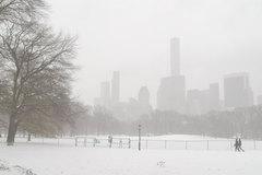 New York thành xứ sở thần tiên sau trận bão tuyết lớn