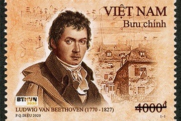 Stamp set issued to mark Beethoven's birthday