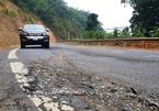 Mới sửa chữa, QL217 ở Thanh Hóa đã sụt lún nghiêm trọng