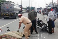 Nữ sinh bị xe tải cán chết thương tâm trên quốc lộ 1