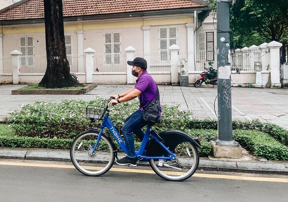 Xe đạp công cộng cho thuê 10.000 đồng/giờ ở trung tâm Sài Gòn